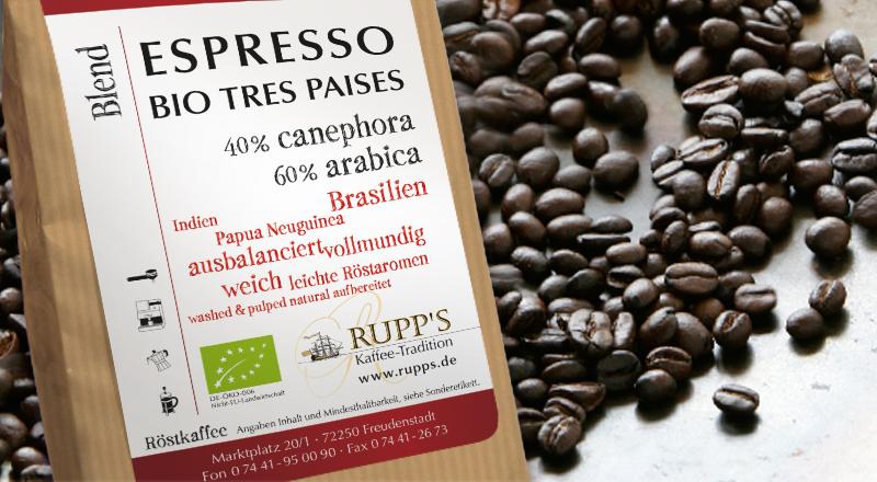 Espresso Tres Paises Bio 250gr.
